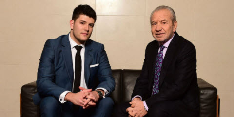 Mark Wright and Alan Sugar